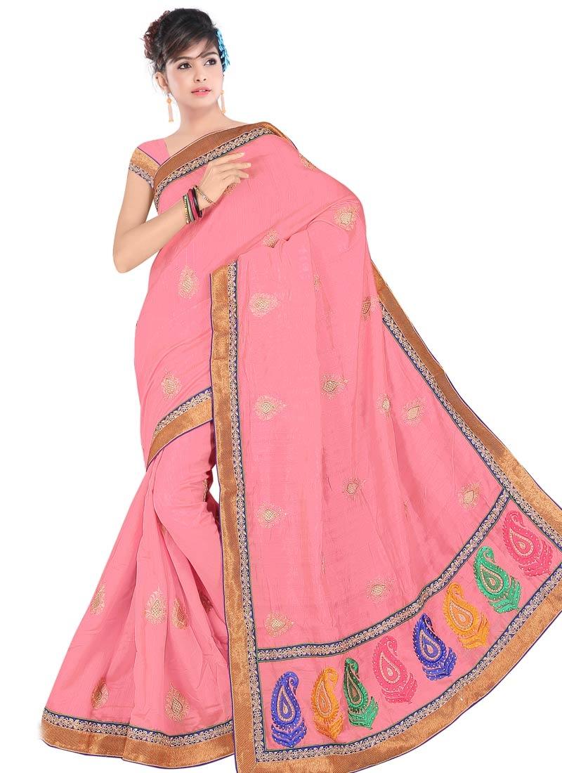 Sparkling Bhagalpuri Silk Party Wear Saree