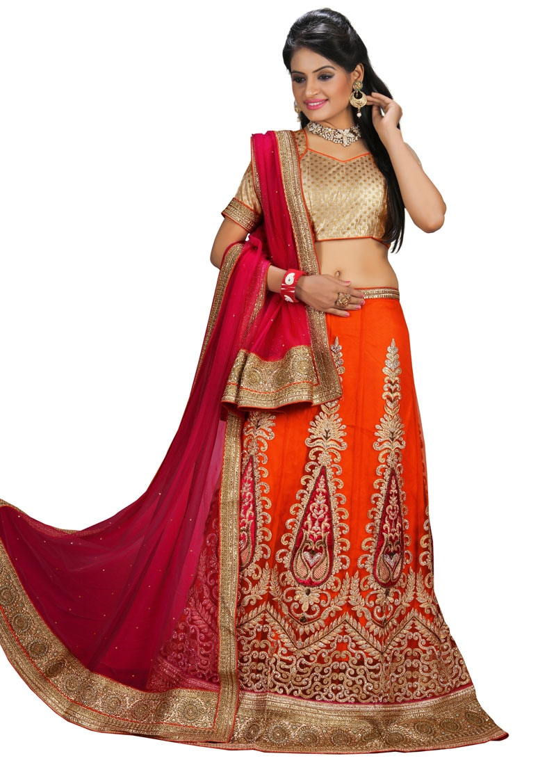 Sparkling Embroidery Work Wedding Lehenga Choli