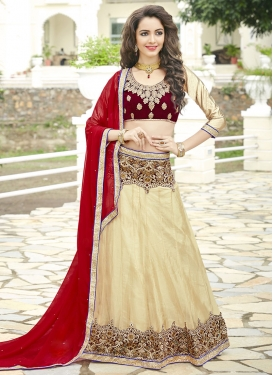 Specialised Embroidered Work  A - Line Lehenga