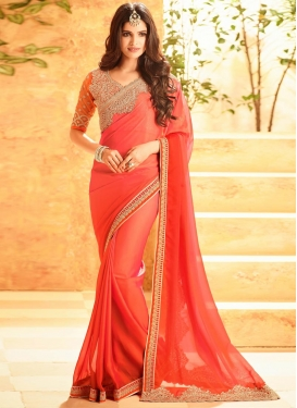 Specialised Embroidered Work  Classic Saree For Ceremonial