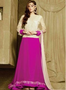 Specialised Faux Georgette Long Length Designer Suit