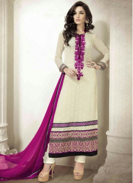 Specialised Faux Georgette Pakistani Salwar Kameez