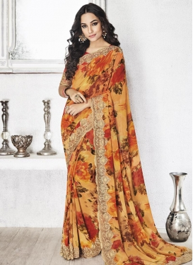 Specialised Faux Georgette Traditional Saree