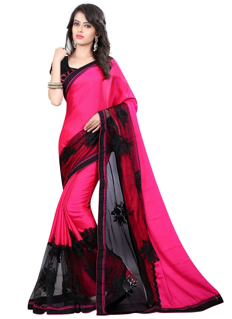 Specialised Net Resham Work Designer Saree