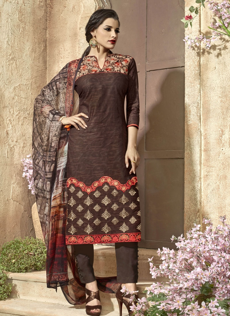 Specialised Resham Work Pant Style Party Wear Salwar Kameez