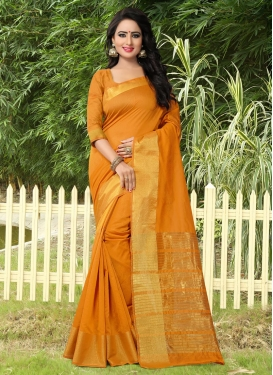 Specialised Thread Work  Banarasi Silk Contemporary Style Saree