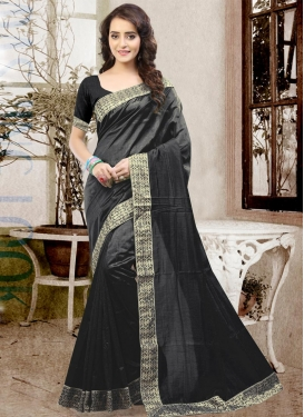 Spectacular Art Silk Lace Work Classic Saree