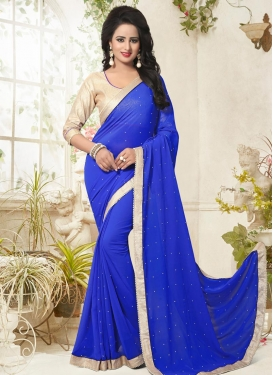 Spectacular Beads Work Contemporary Style Saree