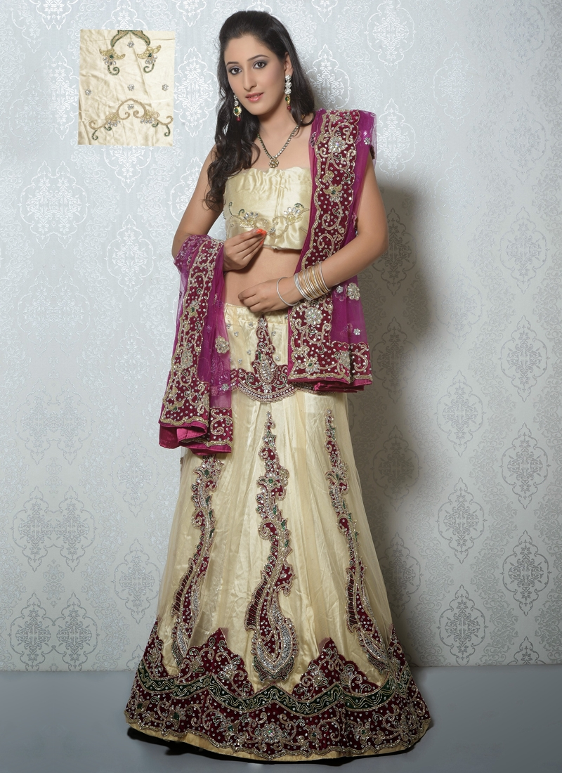 Spectacular Cutdana Work Net Designer Lehenga Choli