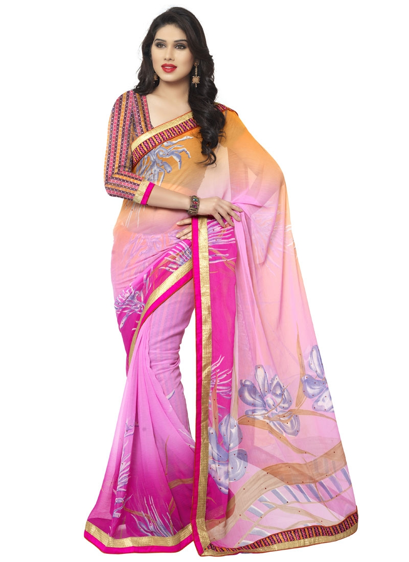 Spectacular Digital Print Work Casual Saree