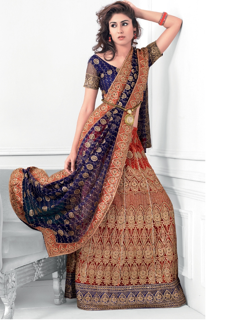 Spectacular Embroidered Party Wear Lehenga Choli
