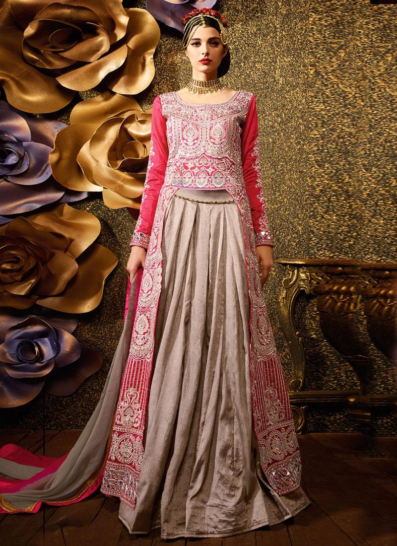 Spectacular Mirror And Resham Work Designer Lehenga Choli