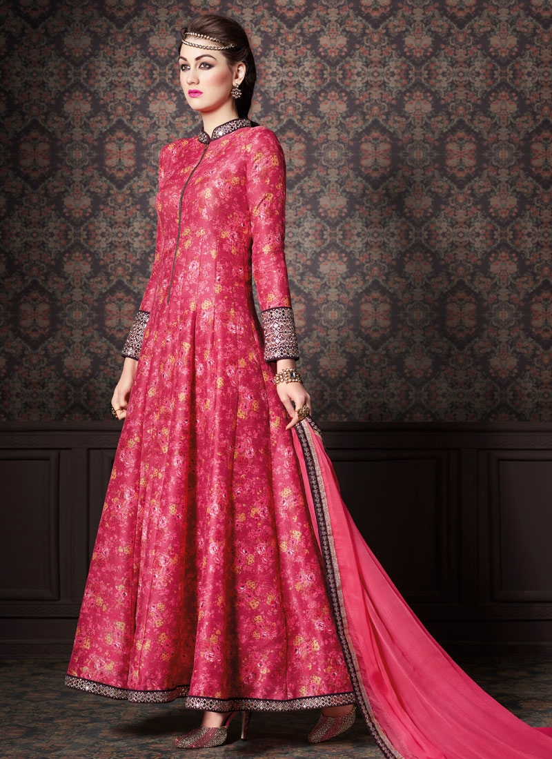 Spectacular Mirror Work Long Length Designer Salwar Kameez