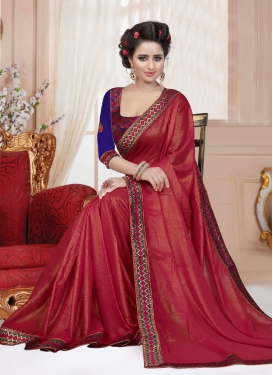 Spectacular Resham Work Casual Saree