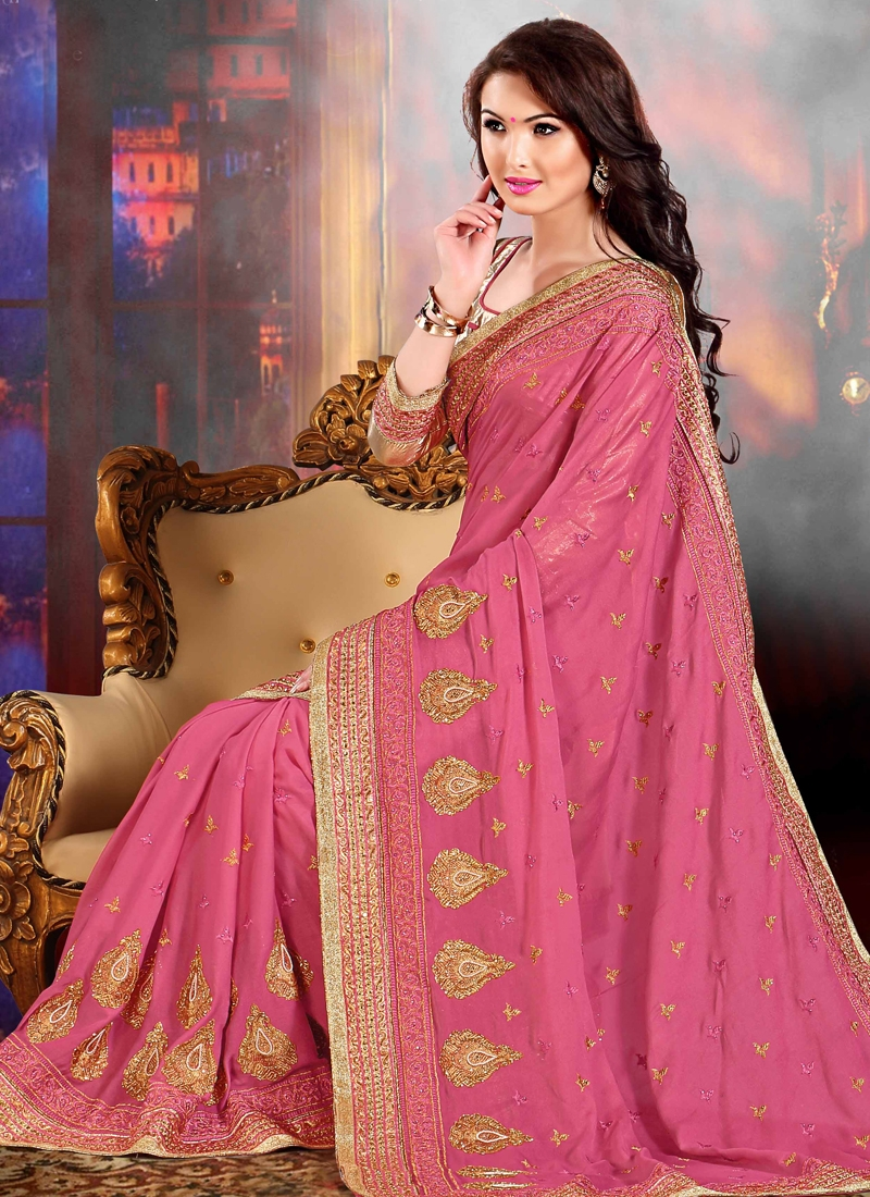 Spellbinding Booti Work Party Wear Saree