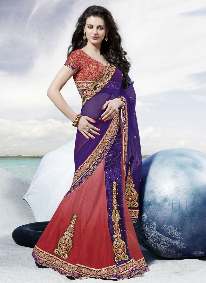 Spellbinding Booti Work Wedding Lehenga Saree