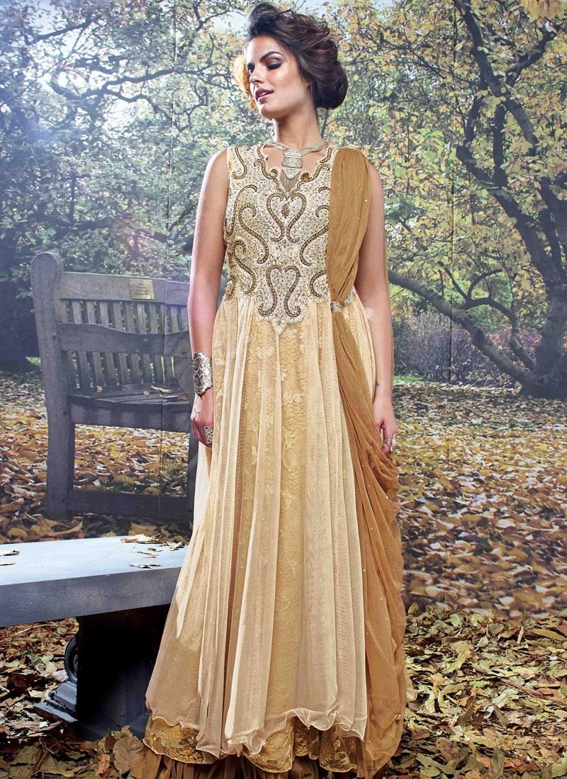 Spellbinding Embroidery Work Floor Length Designer Readymade Gown