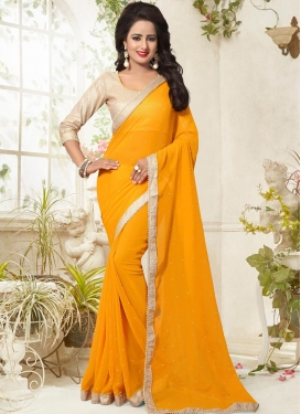 Spellbinding  Faux Georgette Contemporary Style Saree For Ceremonial