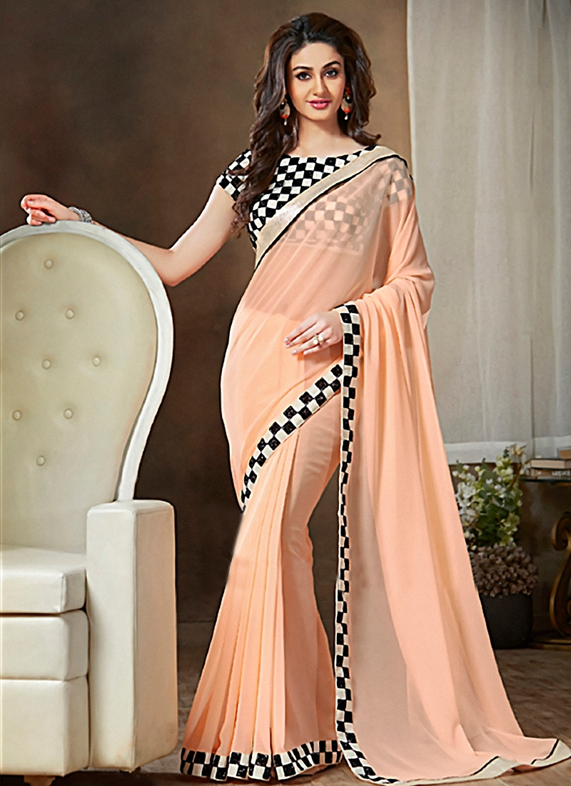 Spellbinding Lace Work Party Wear Saree