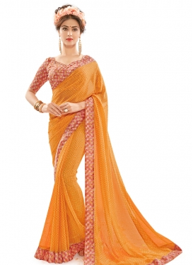 Spellbinding Lace Work Trendy Classic Saree
