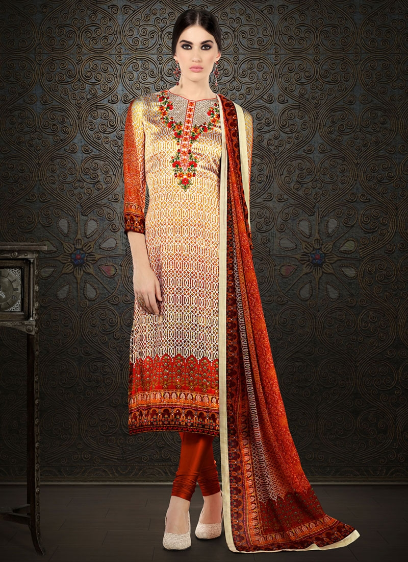 Spellbinding Satin Silk Party Wear Salwar Kameez