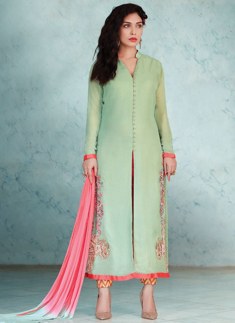 Spellbinding Zardosi Work Pant Style Pakistani Salwar Kameez