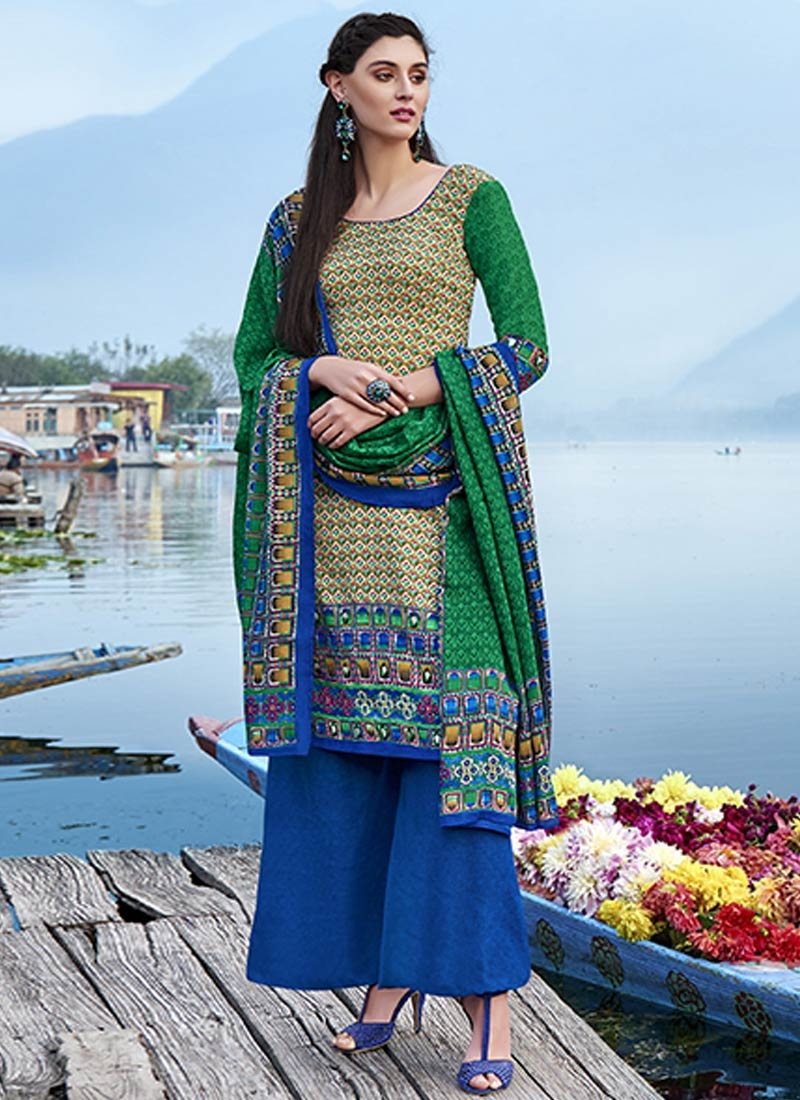 Splendid Digital Print Work Palazzo Style Casual Suit