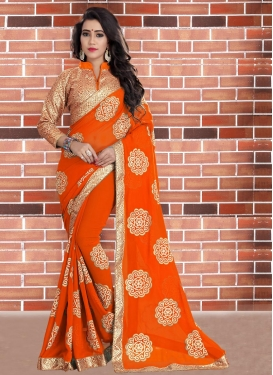 Splendid Faux Georgette Contemporary Style Saree