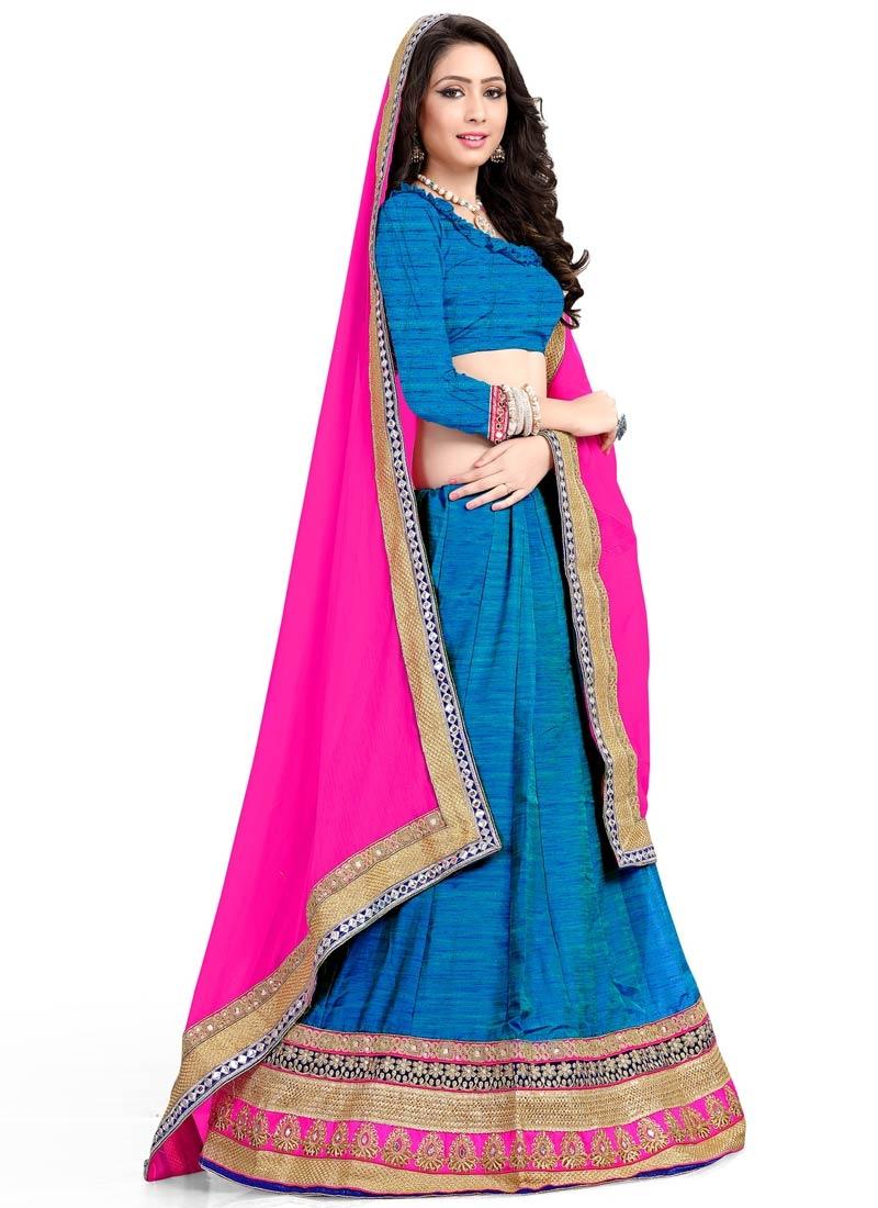 Splendid Sequins Work Silk Designer Lehenga Choli