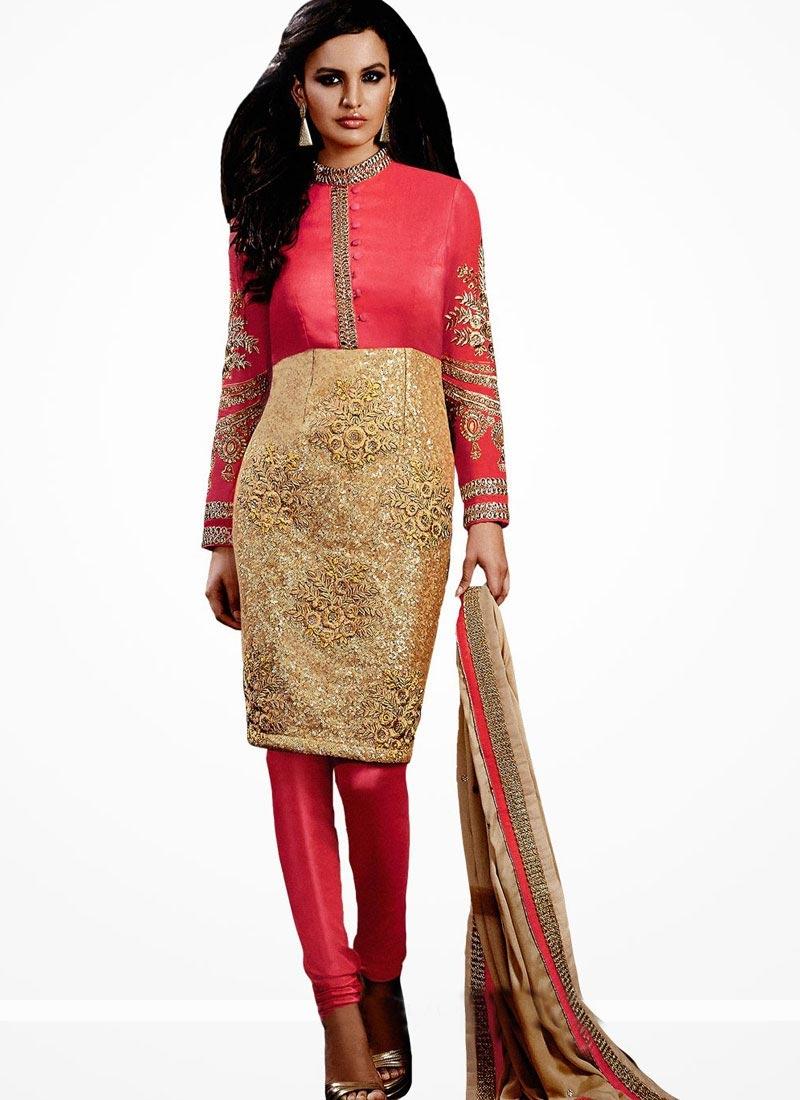 Bhagalpuri Silk And Net Designer Salwar Kameez