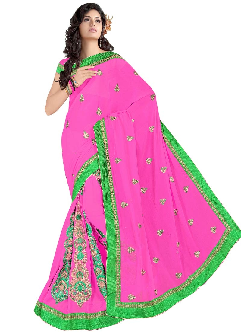 Staggering Booti And Stone Work Party Wear Saree