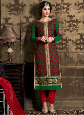 Staggering Booti Work Party Wear Salwar Suit