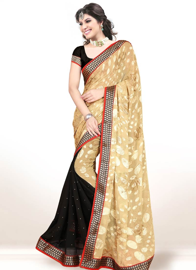 Staggering Brasso Georgette Half N Half Party Wear Saree