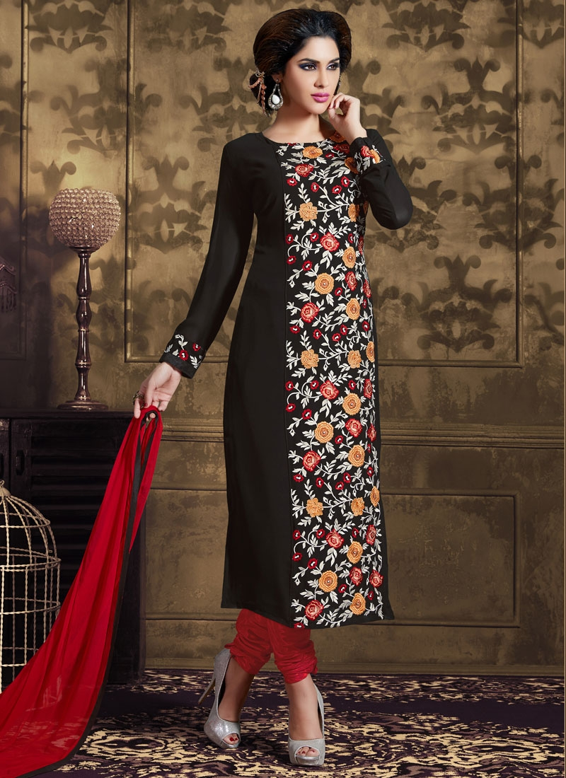 Staggering Embroidery Work Party Wear Salwar Suit