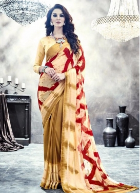 Staggering Faux Georgette Trendy Classic Saree For Casual