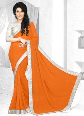 Staggering Faux Georgette Trendy Saree For Ceremonial