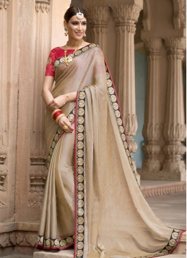 Staggering Lace Work  Trendy Classic Saree For Ceremonial