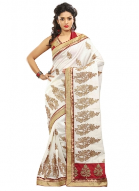 Staggering Patch Border Work Party Wear Saree