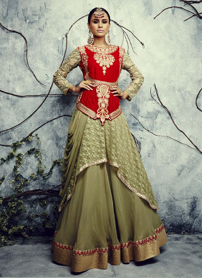Staggering Resham Work Designer Lehenga Choli