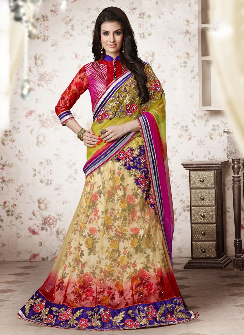 Staring Beads And Embroidery Work Designer Lehenga Choli