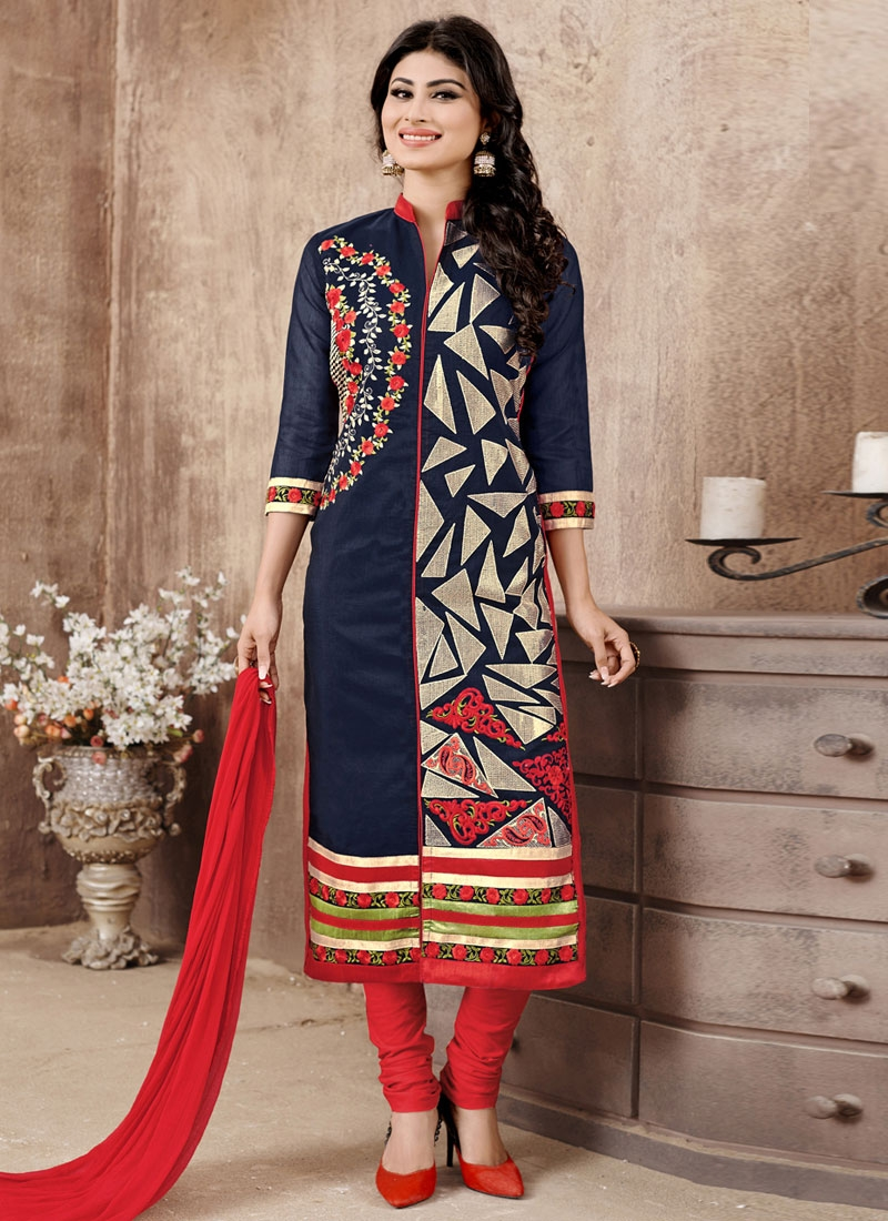 Staring Embroidery Work Mouni Roy Party Wear Salwar Suit
