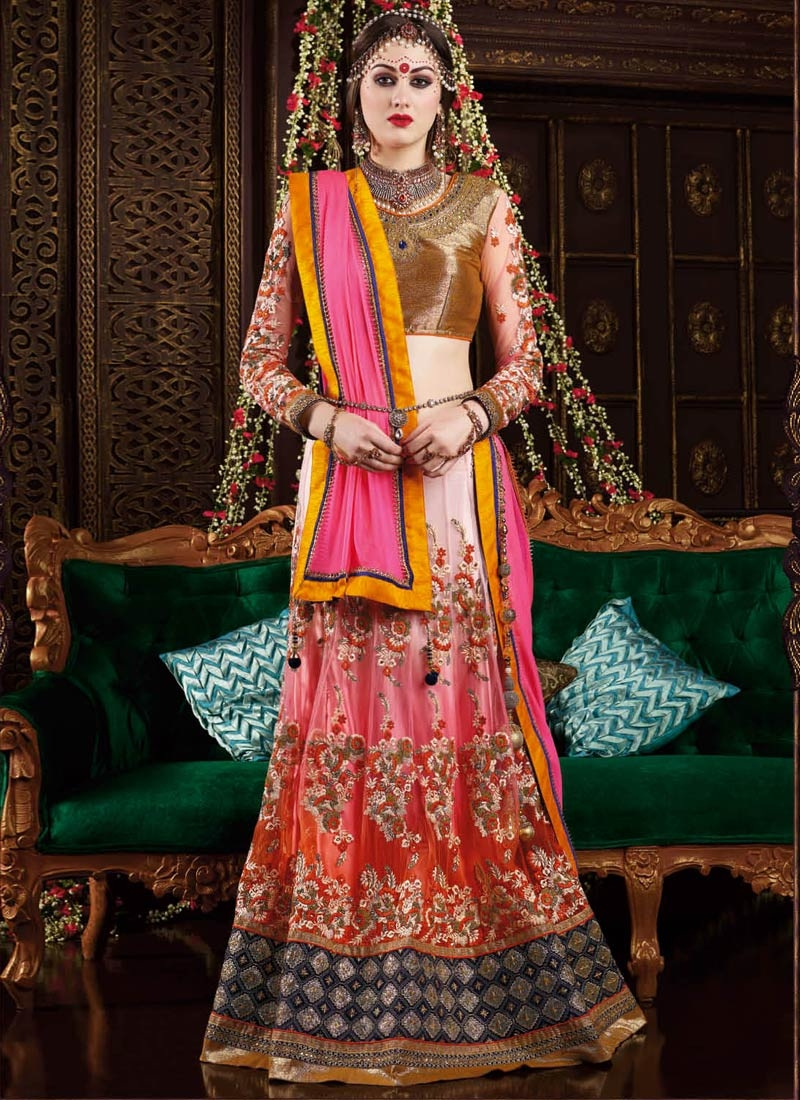 Staring Floral Work Wedding Lehenga Choli