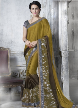 Staring Sequins Work Party Wear Saree