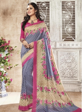 Sterling Beige and Grey Classic Saree For Ceremonial