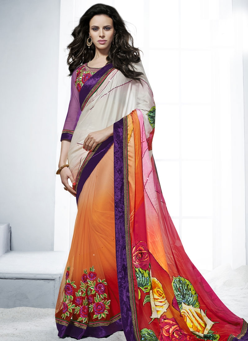 Sterling Booti And Stone Work Wedding Saree