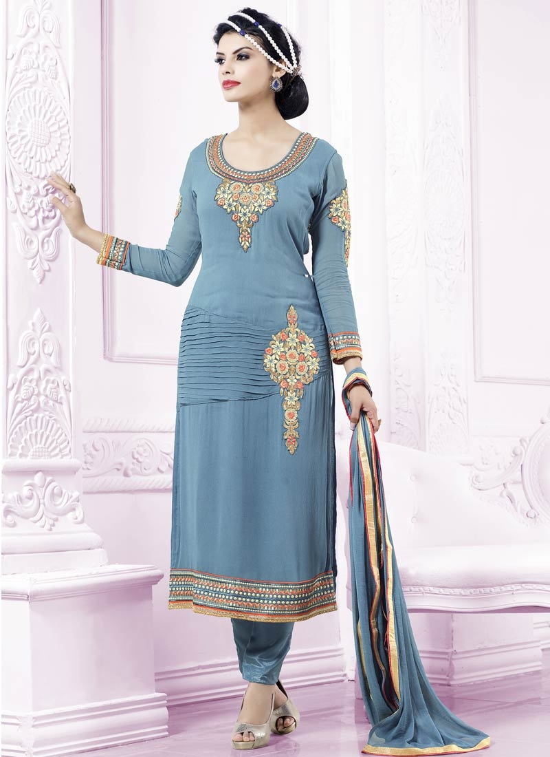 Sterling Booti Work Pant Style Party Wear Salwar Kameez