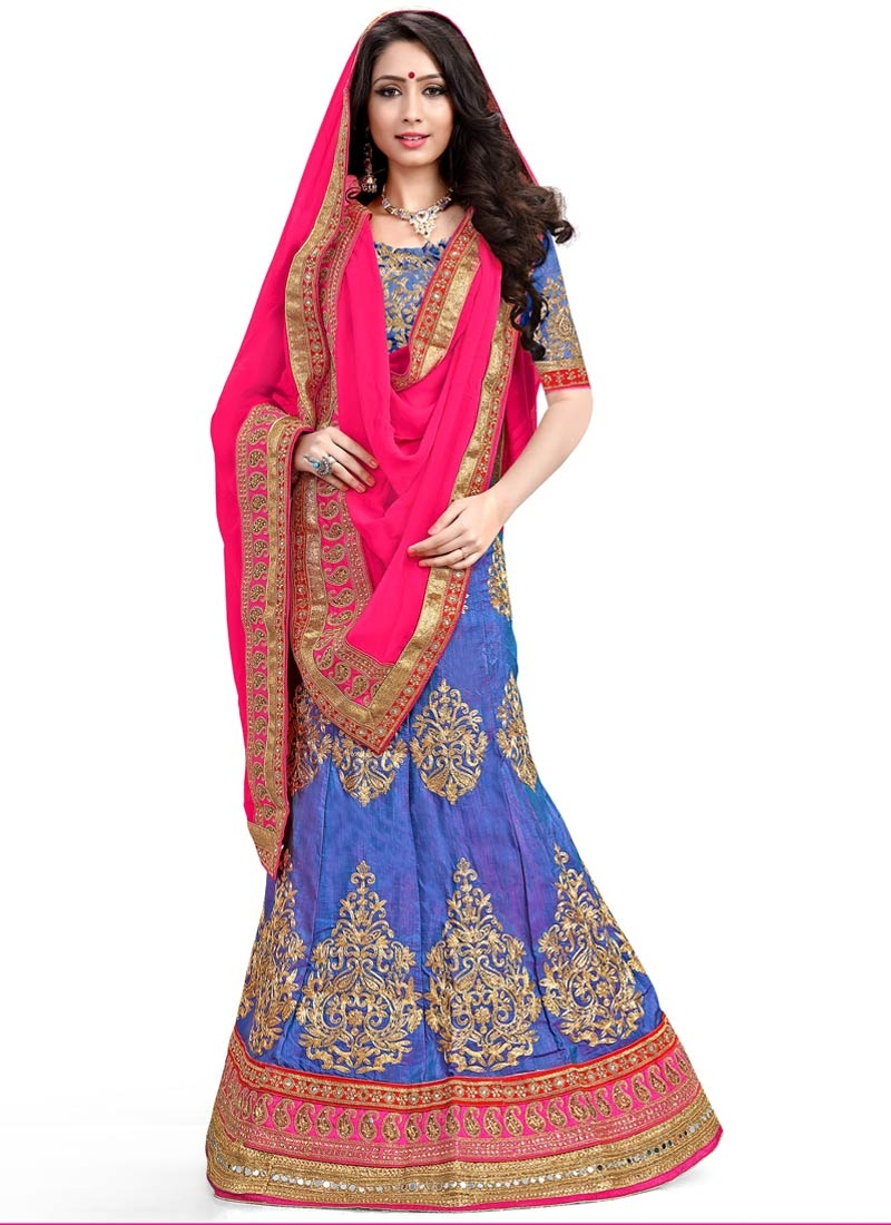 Sterling Booti Work Silk Wedding Lehenga Choli