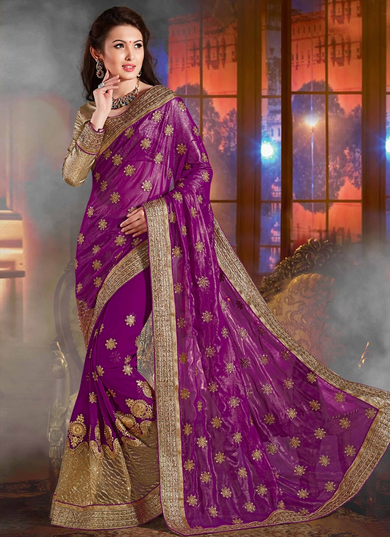 Sterling Purple Color Designer Saree