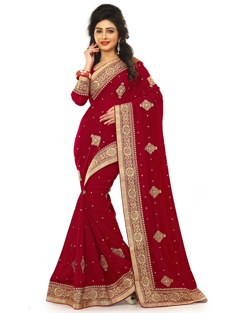 Sterling Stone Work Party Wear Saree