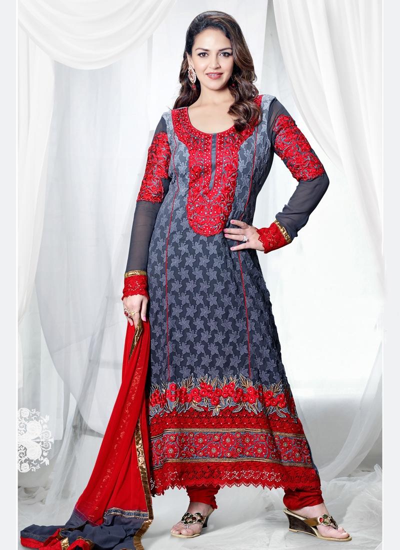 Stone Enhanced Esha Deol Pakistani Suit